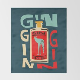 Gin Gin Gin Throw Blanket
