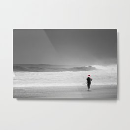 surf santa - shore walk Metal Print