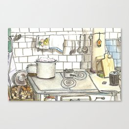 Grandmother's kitchen Canvas Print