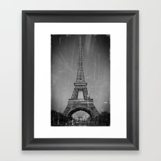 Vintage Eiffel Tower Framed Art Print
