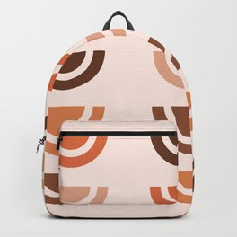 Half Circle Array 01 - Mid Century Modern Print Backpack