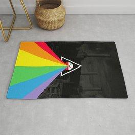 Floydian collage PinkFloyd Rug