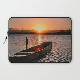 Boat at sunset Laptop Sleeve