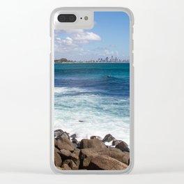 Gold Coast Skyline Clear iPhone Case