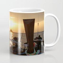 Boats during Sunset Coffee Mug