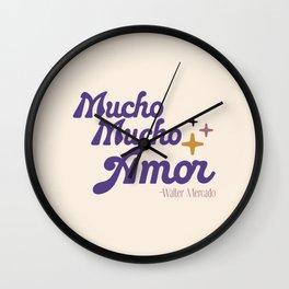 Mucho mucho amor Wall Clock