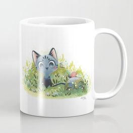 Little cat and stone Coffee Mug