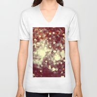 glitter V-neck T-shirts featuring Glitter by Mark Mayr
