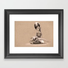 My Pet Moth Framed Art Print