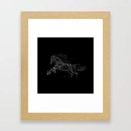 Horse - Gallopping Framed Art Print