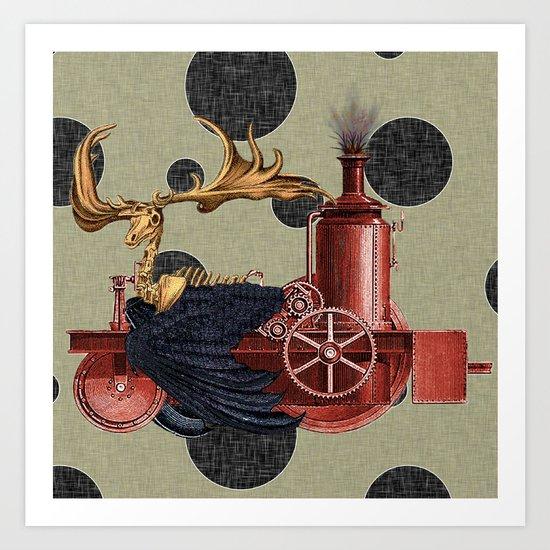 Stitchpunk Caribou Art Print