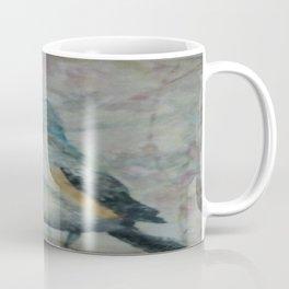 Bird by Karen, Encaustic art Coffee Mug