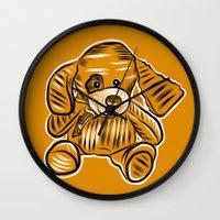 puppy Wall Clocks featuring Puppy by Omar Sangiovanni