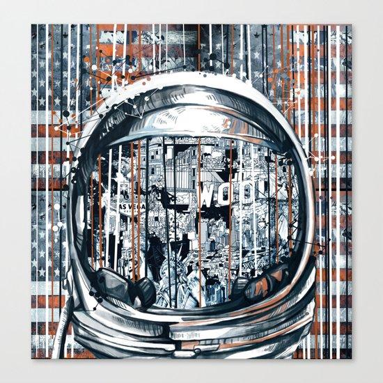 pop art usa collage 2 Canvas Print
