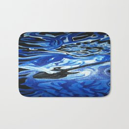 Jerry Garcia Blues Acrylic Painting Grateful Dead Bath Mat