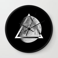 swag Wall Clocks featuring LUNAR SWAG  by Maioriz Home