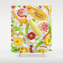 Fruits and vegetables pattern (12) Shower Curtain