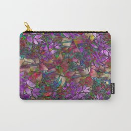 Floral Abstract Stained Glass G175 Carry-All Pouch