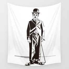 Charlie Chaplin Wall Tapestry