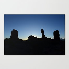 Balance Rock Silhouette  Canvas Print