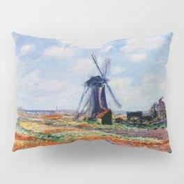 Claude Monet Tulip Field In Holland Pillow Sham