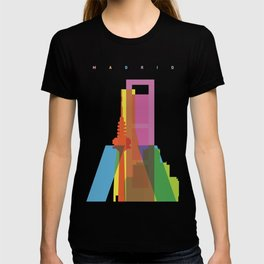 Shapes of Madrid. Accurate to scale. T-shirt
