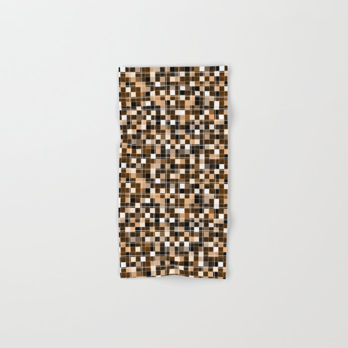 Beige White Black Brown Mosaic Hand