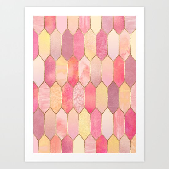 Stained Glass 1 Art Print