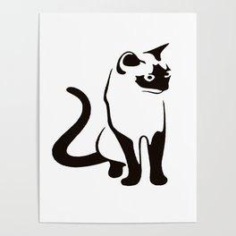 Siamese Cat Design Poster