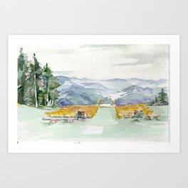 San Sophia Watercolor Art Print