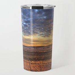 Sunset Fenceline 2 Travel Mug