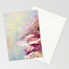 WINTER DREAMLAND 1 Colorful Pastel Aqua Marsala Burgundy Cream Nature Sea Abstract Acrylic Painting  Stationery Cards