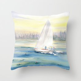 Morning In Maine  Throw Pillow