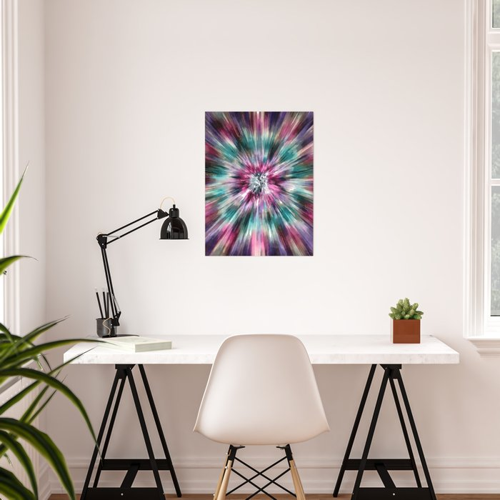 Colorful Watercolor Tie Dye Poster