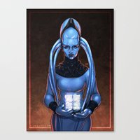 fifth element Canvas Prints featuring The Fifth Element: Plavalaguna by Gunkiss