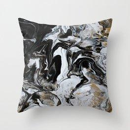 golden marble Throw Pillow