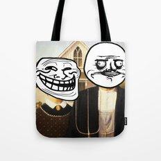 Modern Icons     American Troll Gothic Tote Bag