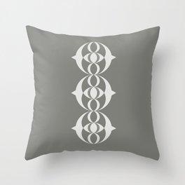 Alien crop circle, Sacred geometry Throw Pillow