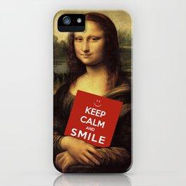Mona Lisa's Theme Of Life iPhone Case