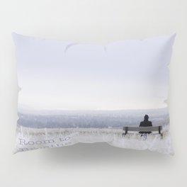 Winter walk; Room to breathe Pillow Sham