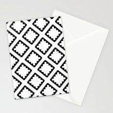 Geometric Squares Diamond Pattern Stationery Cards