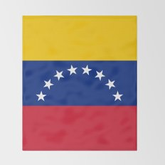 National flag of  Venezuela - Authentic version Throw Blanket