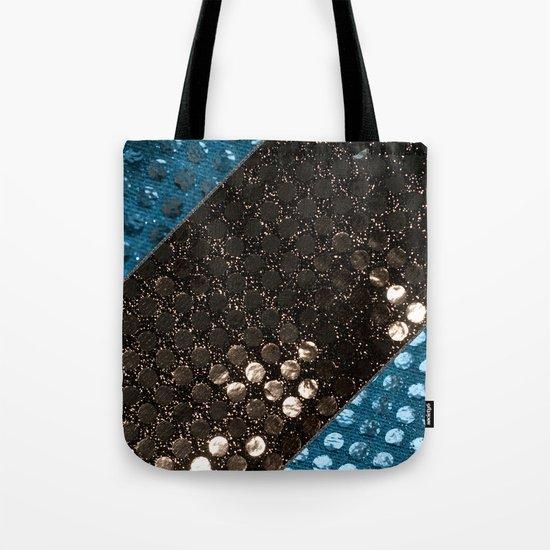 Shiny glitter #3 #Mixed #Black #Aqua #decor #art #society6 Tote Bag