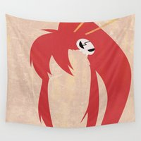minimalist Wall Tapestries featuring Minimalist Yoko by 5eth