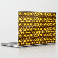 yellow pattern Laptop & iPad Skins featuring yellow pattern by dedoma
