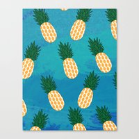 pineapples Canvas Prints featuring Pineapples  by Ashley Hillman