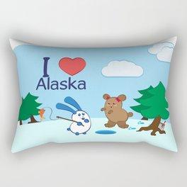 Ernest and Coraline | I love Alaska Rectangular Pillow
