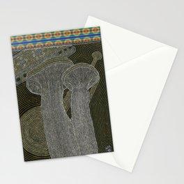 King Trumpet Mushrooms Stationery Cards