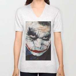 Heath Ledger, The Joker Unisex V-Neck