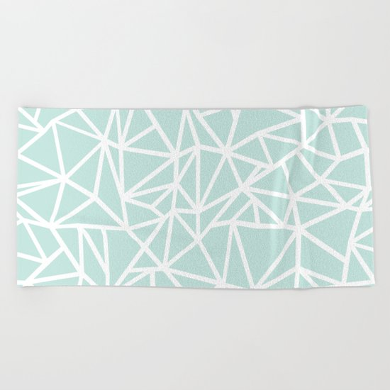 Ab Outline Thick Mint Beach Towel